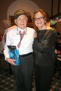WWII Veteran Matt Campbell and Fort Pierce Mayor Linda Hudson